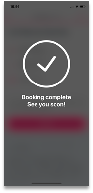 Booking complete