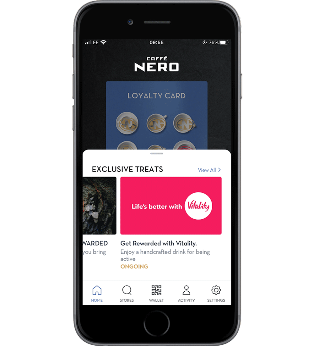 Receive voucher in Nero app